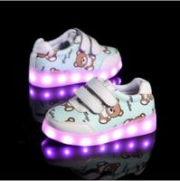 Luminous sneakers Kids led   shoe   do with Lights Up christmas lighted   shoes   Boy Girl tenis Led simulation Glowing Sneakers