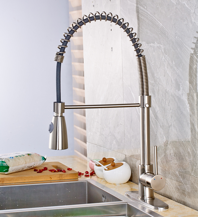 Contemporary Style Solid Brass Bathroom Sink Faucet Single Handle Mixer Tap with Cover Plate Nickel Brushed chrome brass bathroom waterfall spout bathroom sink faucet single handle mixer tap with cover plate contemporary style
