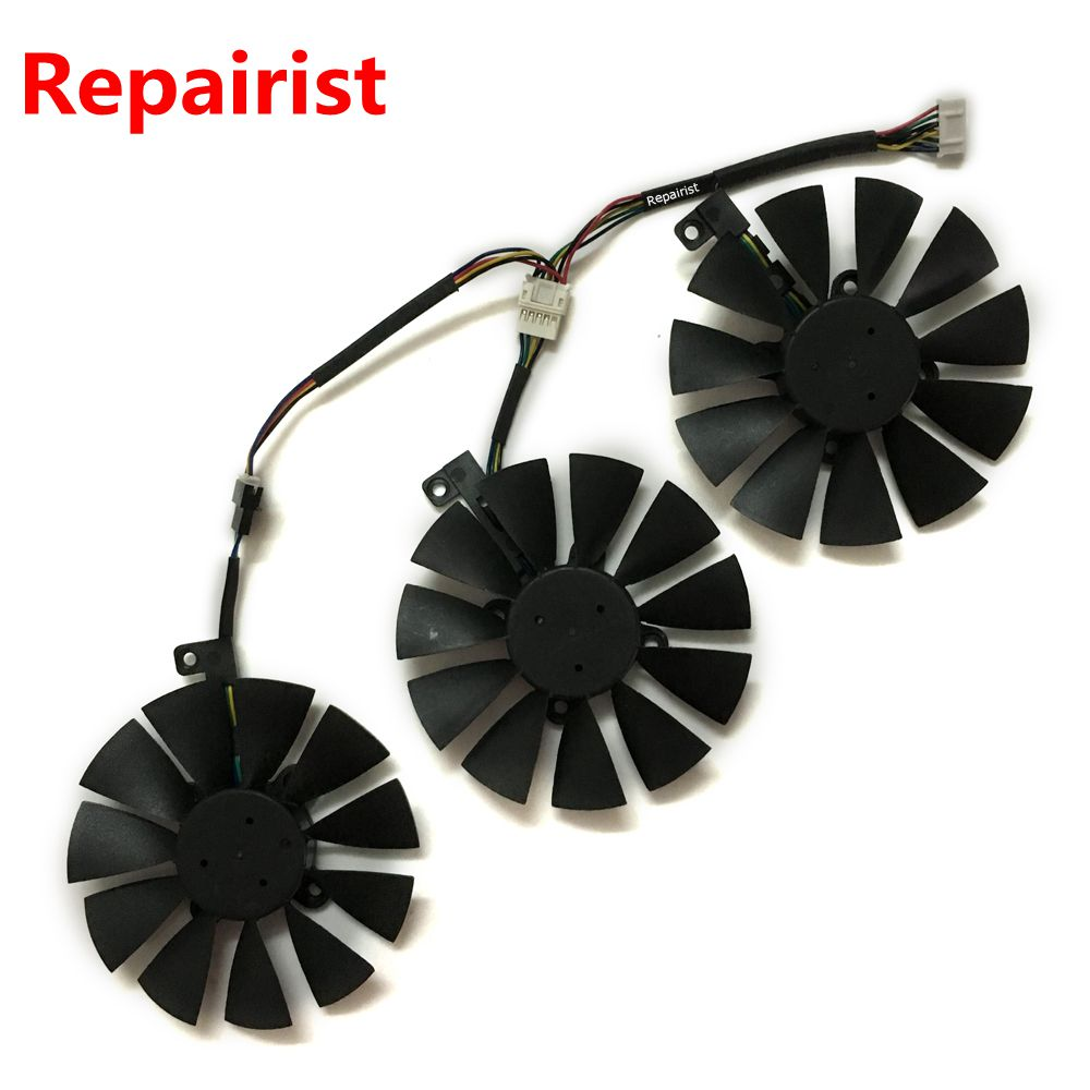 GPU VGA cooler Video card fan for ASUS STRIX Raptor GTX1060 RX480 GTX 1060 graphics cards cooling 75mm pld08010s12hh graphics video card cooling fan 12v 0 35a twin for frozr ii 2 msi r6790 n560gtx r6850 n460gtx dual cooler fan