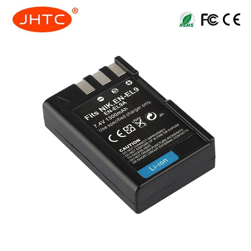 JHTC 1 pc 1300 mAh EN-EL9 EN EL9 EN-EL9a EN EL9a EL9a Li-ion Appareil Photo numérique Batterie AKKU Pour Nikon EN-EL9a D40 D60 D40X D5000 D30