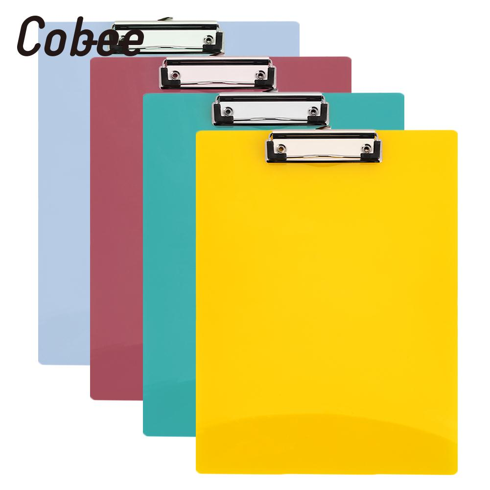 A4 4 Colors Random Paper Clip Board PP File Folder Stationery A4 Writing Pad Office Clipboard File Pad Office School Supplies