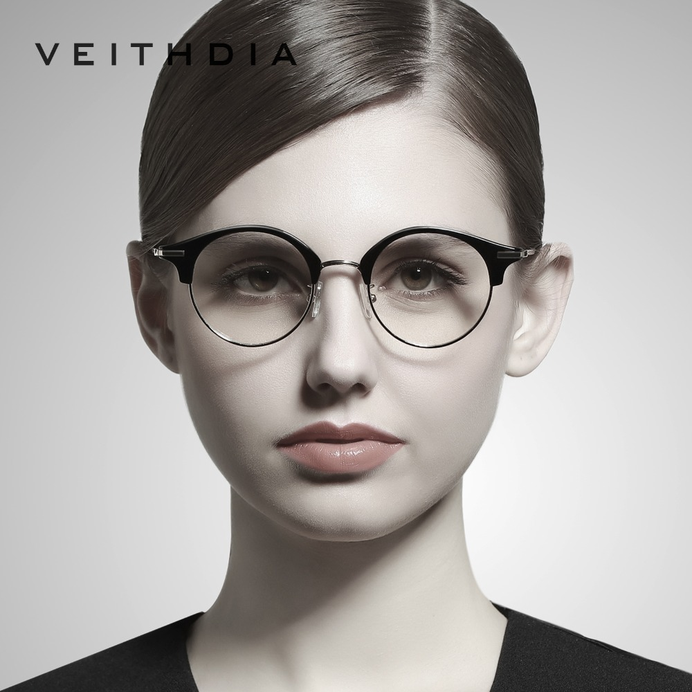 VEITHDIA Unisex Optical Glasses Men Eyewear Frame Clear Lens Eye Glasses Spectacle Frames For Women oculos Accessories V1230