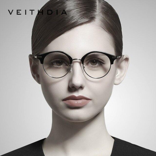 venta minorista 62970 13e7a VEITHDIA gafas ópticas Unisex hombres montura lentes transparentes para  mujeres oculos accesorios V1230