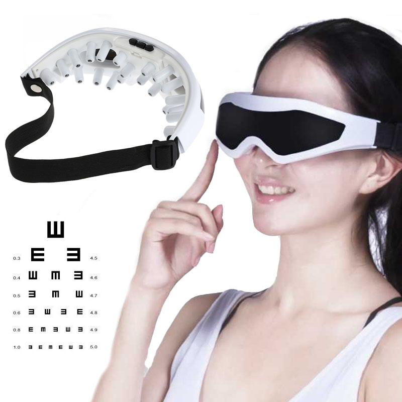 eye massager Electric Migraine Forehead Care Eye Mask Massager Alleviate Fatigue Oscillating Vibrating Healthy Massagers abs electric eye care massager magnetic therapy vibration alleviate fatigue dark circles alleviate massage healthy care