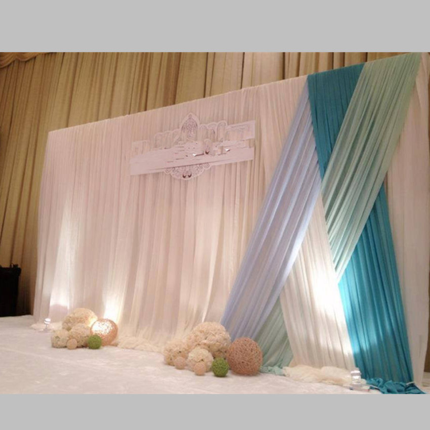 New Arrival Customer Designed Wedding Backdrop with Swag ...