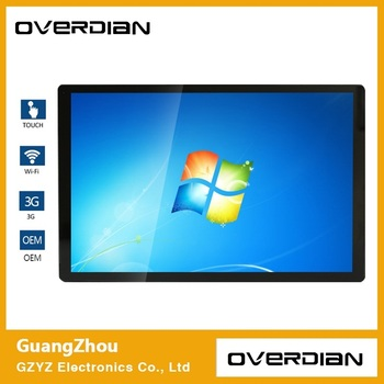"21.5"" Win7 System 32GSSD Widescreen LCD Screen  Industrial Computer Built in WiFi Capacitive Touch Screen Industrial Computer"