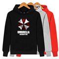 Resident Evil Umbrella Pullover Hoodies&Sweatshirt Fleece Coat Fashion Jacket Red Grey Black White Tops