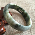 60mm Certified Grade A Chinese Natural Green Dushan Jade Bracelet Bangle 3316 a 5.19