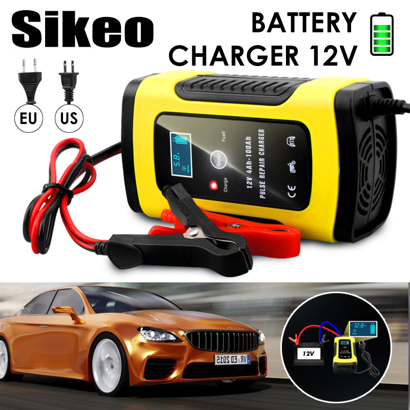 Car Battery Charger 110VTo220V Intelligent LCD Display Full Automatic Smart Fast for Auto Motorcycle LeadAcid Batteries ChargingCar Battery Charger 110VTo220V Intelligent LCD Display Full Automatic Smart Fast for Auto Motorcycle LeadAcid Batteries Charging