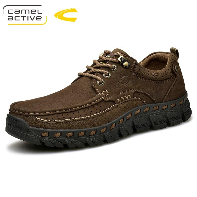 낙타 활성 새로운 편안한 정품 가죽 캐주얼 신발 oxfords 남자 신발 품질 암소 가죽 신발 남자 플랫 moccasins 신발-에서옥스퍼드화부터 신발 의  그룹 1
