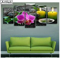 5d diamond painting flower candle landscape full square drill 3d diamond embroidery mosaic living room decorative painting