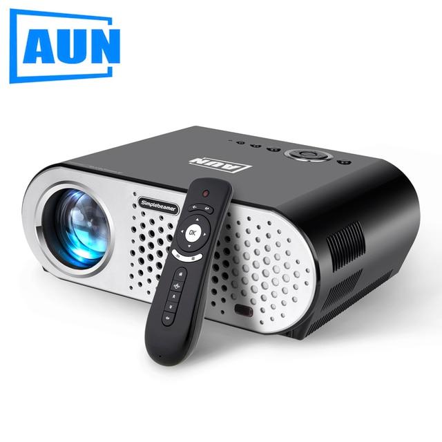 Aun projector 1280*768 (opcional android projetor wi-fi embutido bluetooth) 3200 lumens levou projetor cabo hdmi grátis t90 series
