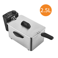 Electric Oil Deep Fryer Stainless steel Commercial Fried Chips Frying Pot Oven Pan 3L French Fries Grill Machine 110V 220V