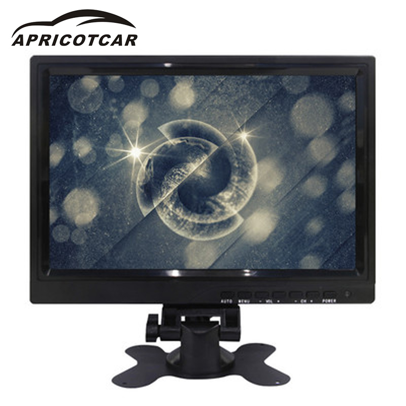 APRICOTCAR 10.1 Inch Car LCD HD Monitor VGA /AV / HDMI Interface for A Variety of Models Resolution 640 * 480 Reversing Priority wearson 8 inch lcd monitor screen 4 3 1024x768 with vga hdmi bnc av function for car dslr