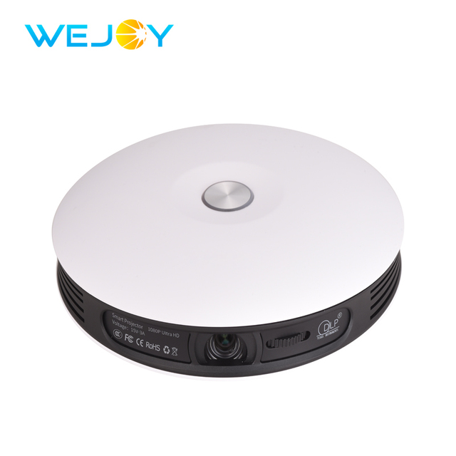 Best Offers Wejoy Mini 3D 4K DLP Projector DL-S9 Full HD Proyector Support LED Video Phone Home Theater Android WIFI Beamer Battery 2+16G