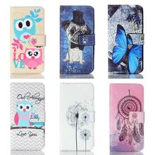 For Samsung Galaxy A3 2016 Case Flip Leather Wallet Magnet Card Slot Phone Case For Samsung Galaxy A3 SM-A310F Case Cartoon OWL