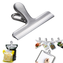 1 개 칩 백 Clips 12 센치메터 Wide Stainless Steel Heavy-duty 칩 Clips, all-Purpose Air 꽉 씰 Grip Clips 대 한 주방 Office(China)