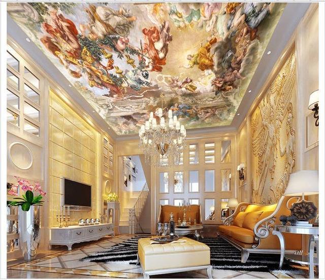 Customized 3d wallpaper 3d ceiling wallpaper murals European angel