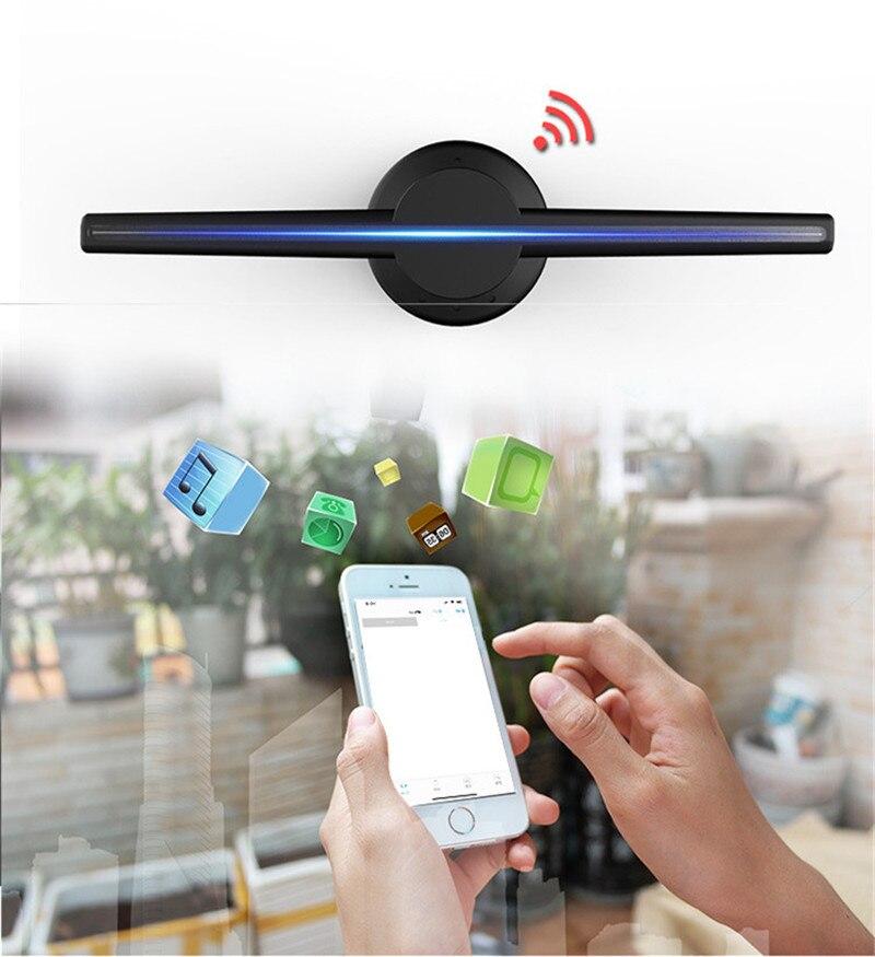 Projecteur holographique 3D lumière mise à niveau Wifi lecteur hologramme LED affichage ventilateur publicité lumière APP contrôle 320 LED s Logo lumières - 5