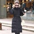 2015 зима женщины утолщение пальто тонкий хлопок пальто плюс размер длинные парка снег износ хлопка-ватник женщин куртка DX398