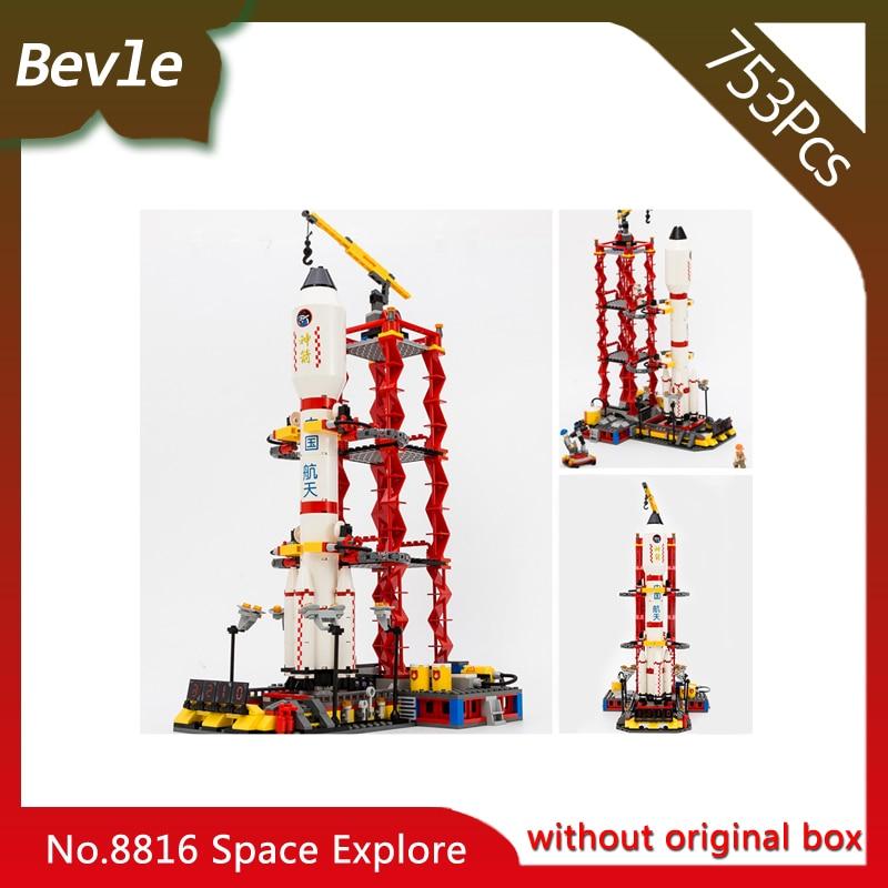 Bevle Store LEPIN 8816 753Pcs Aerospace Series Shenzhou NO.10 launch center Building Blocks Children For Toys Gudi Boys Gift
