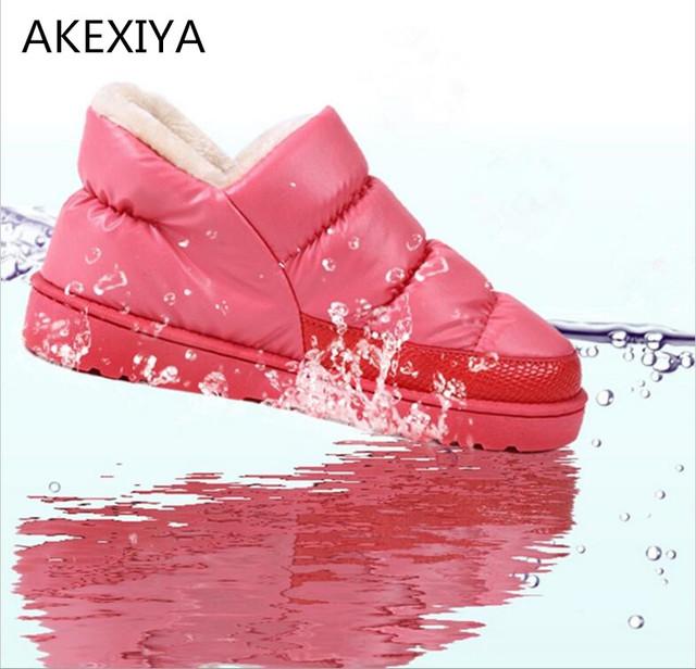Mujeres calientes Botas Superestrella Zapatos Mujer Botas de Nieve de Invierno Cálido Confort Plana y Hogar A Prueba de agua Botas Mujeres Chaussure Homme