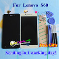 Высокое Качество ЖК-Дисплей + Сенсорный Экран Digitizer Замена Панели для Lenovo S60 S60W Сотовый Телефон 1280*720 5.0 дюймов Черный белый