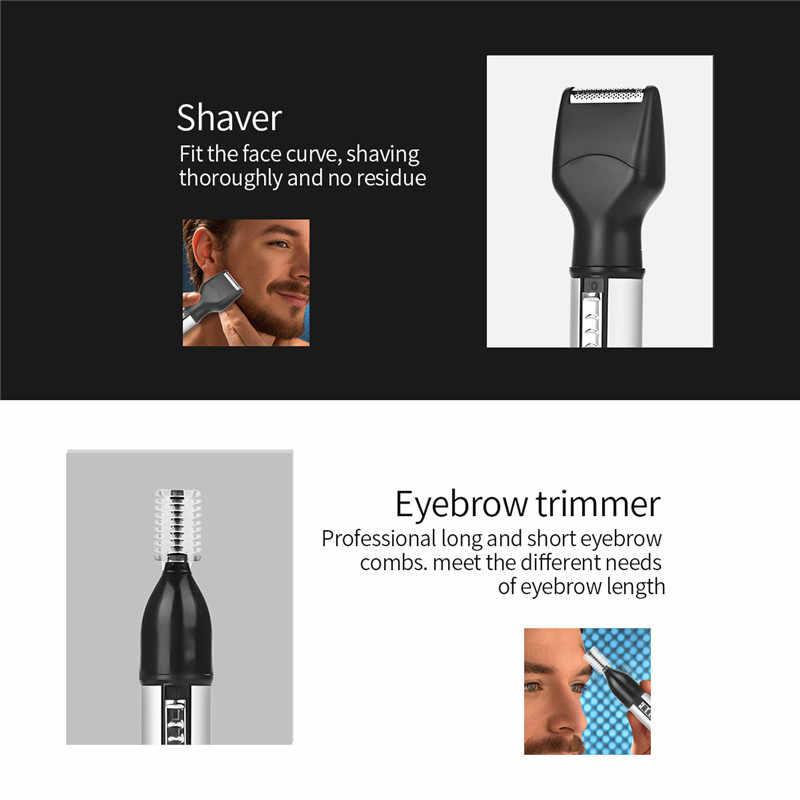 4 で 1 USB 充電式鼻毛カッター男性トリマー耳眉毛鼻脱毛ワイヤレス電動フェイスケアツールキット
