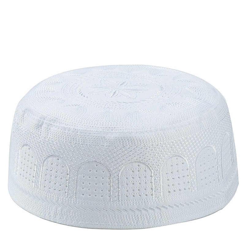 2020 มุสลิมหมวกเย็บปักถักร้อยผ้าฝ้ายอาหรับผู้ชายสวดมนต์หมวก Musliman Turban Man Hijab Bonnet Saudi Arabian อิสลามชาวยิวอินเดีย Caps