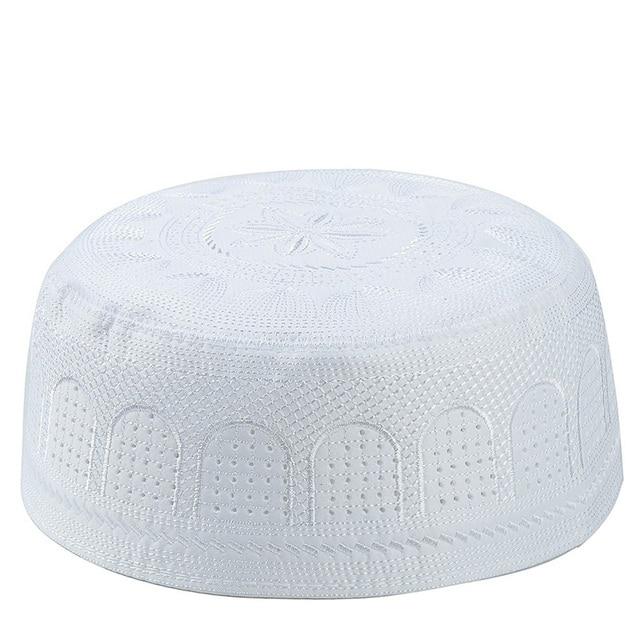 2020 muslim hats Cotton Embroidery Arab Men Prayer Hat Musliman Turban Man Hijab Bonnet Saudi Arabian Islam Jewish India Caps