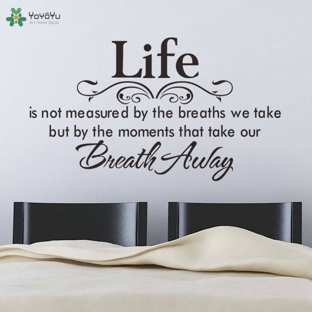 Life quotes wall sticker master bedroom headboard wall decal motto life quotes wall sticker master bedroom headboard wall decal motto poem saying home decor art mural modern design removablesy447 in wall stickers from home amipublicfo Images