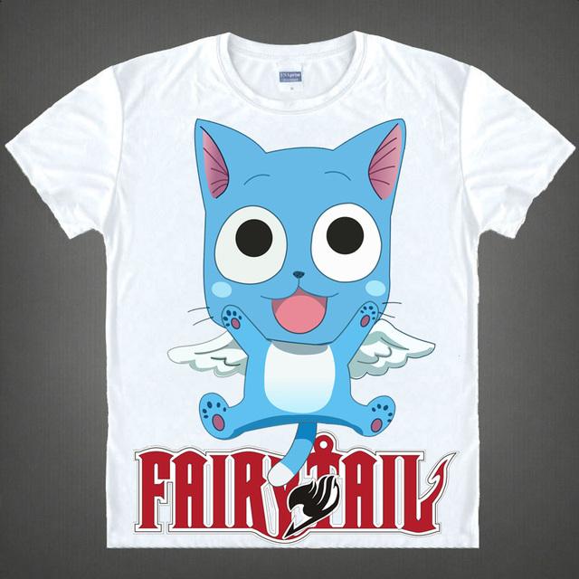 Fairy Tail Anime Natsu Dragneel Short Sleeves Summer Casual Men's T-shirt