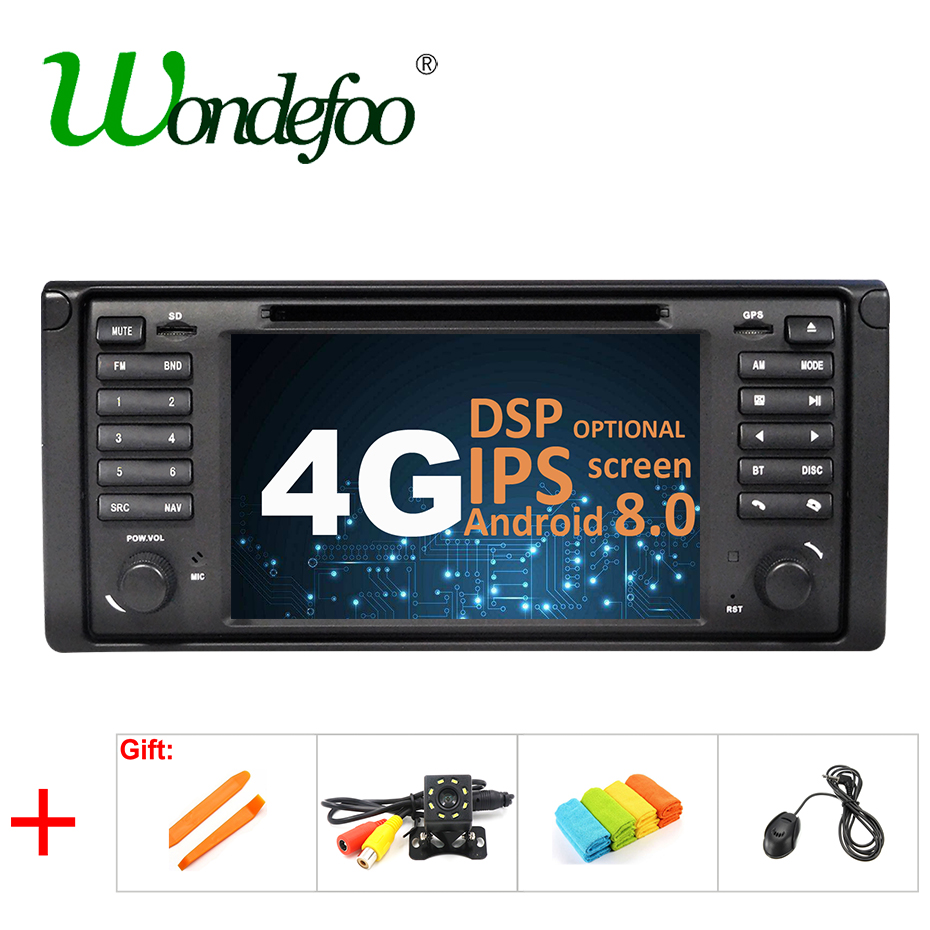 IPS DSP Android 8.0 4G Car GPS For BMW X5 E53 E39 DVD PLAYER stereo audio navigation multimedia screen head unit/Android 8.1