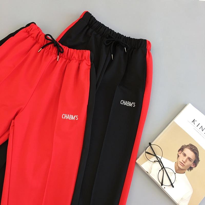 Spring Sport Cargo Pants Plus Size Letter Embroidery Pants Women High Waist Streetwear Cool Girl Harajuku Hip Hop Pants 6