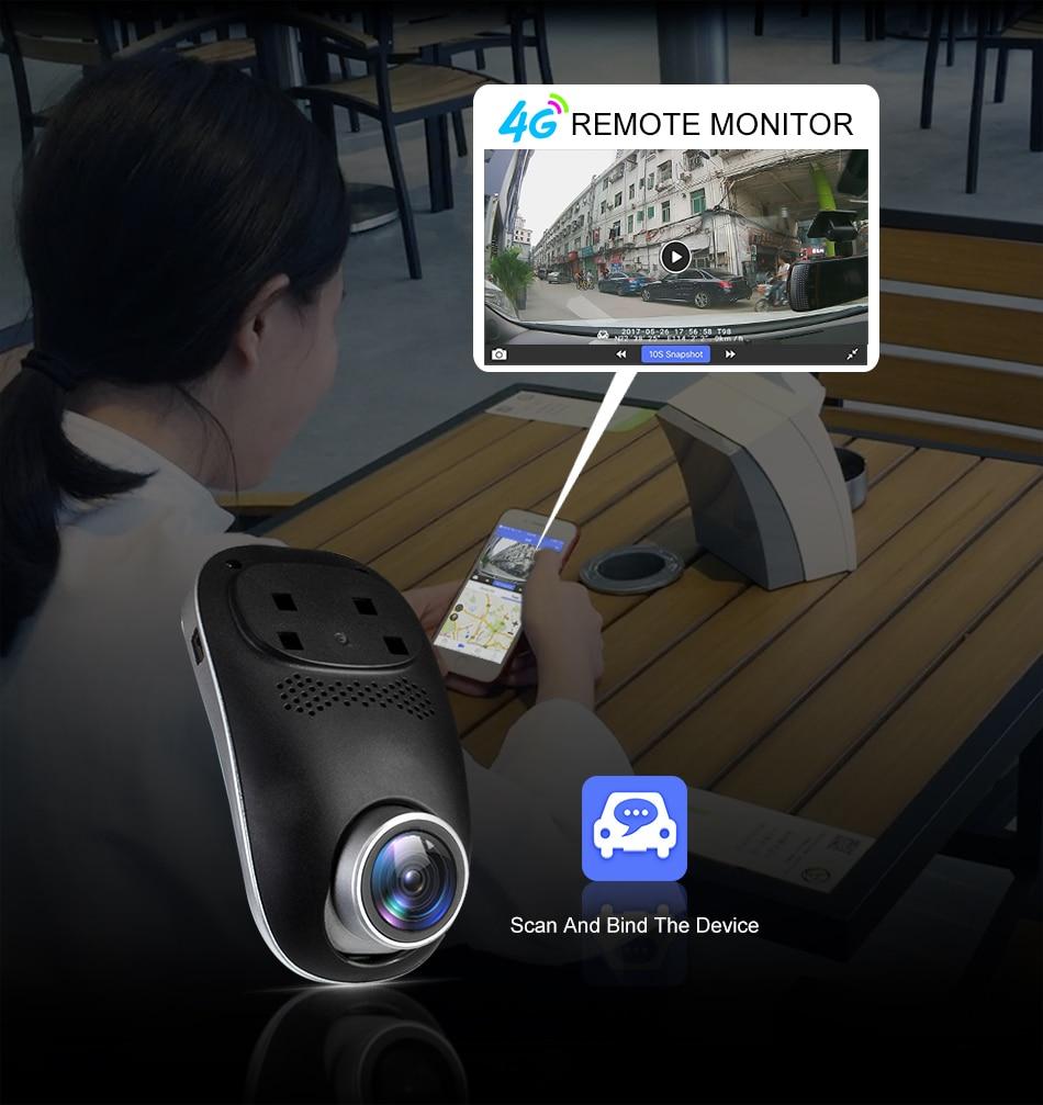 RUCCESS R40S 4G Dash Cam Car DVR Wifi GPS Camera Remote Monitor ADAS Smart Android 5.1 Dual Lens 1080P Nigth Vision Dashcam DVRs 3