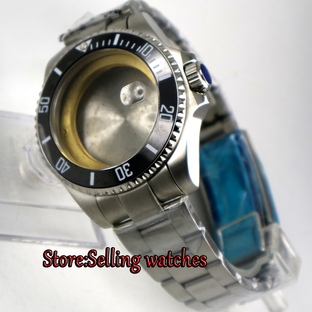 40mm sapphire glass date sub Watch Case fit ETA 2824 2836 miyota 8215 MOVEMENT цена и фото