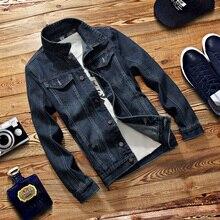 2017 sexemara neue frühling jeansjacke männer mode streetwear jeans jacke 100% baumwolle m-3xl 801-829
