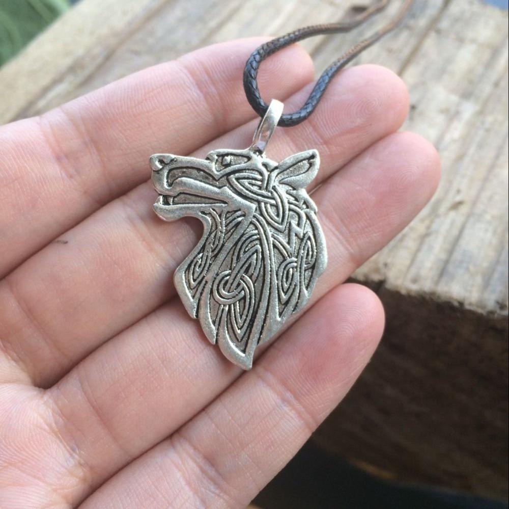 1pc Celtics Fox wolf eagle Pendant Necklace Men\'s Viking Necklace ...