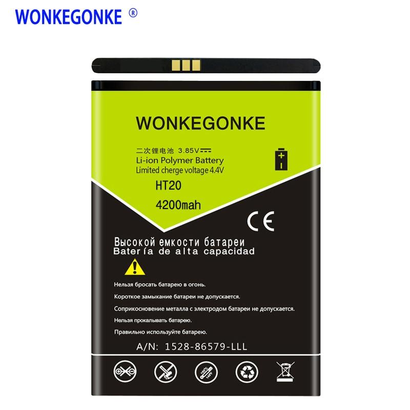 WONKEGONKE Battery For Homtom HT20 HT20 Pro Mobile Phone Batteries  WONKEGONKE Battery For Homtom HT20 HT20 Pro Mobile Phone Batteries