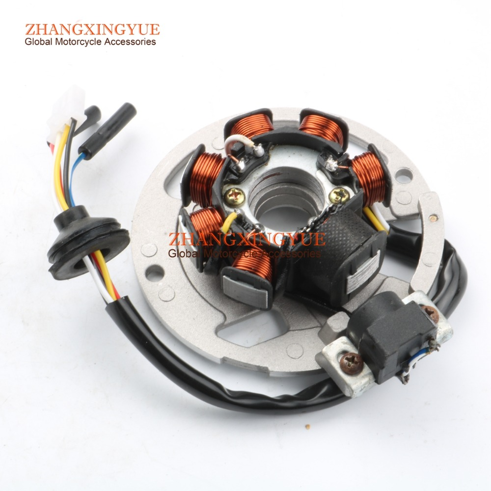 7 Coil 6 Wire Ac Magneto Stator For Yamaha Aerox 50 Axis50 Breeze50 Jog50 R Ac Jog Rr 50 Lc Neos
