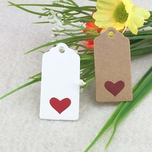 Paper-Tags Kraft-Label Hand-Made Small Gift Cake-Candy 100pcs for DIY Party-Supplies