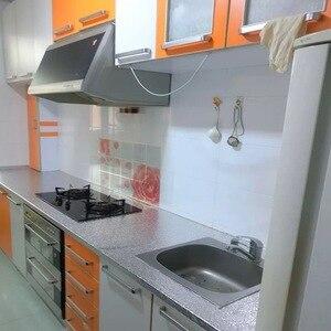 Image 5 - 40x10 0/200ซม.ห้องครัวกันน้ำกันน้ำกันน้ำสติ๊กเกอร์อลูมิเนียมฟอยล์เตาครัวตู้Self Adhesive Wall Sticker DIYวอลล์เปเปอร์