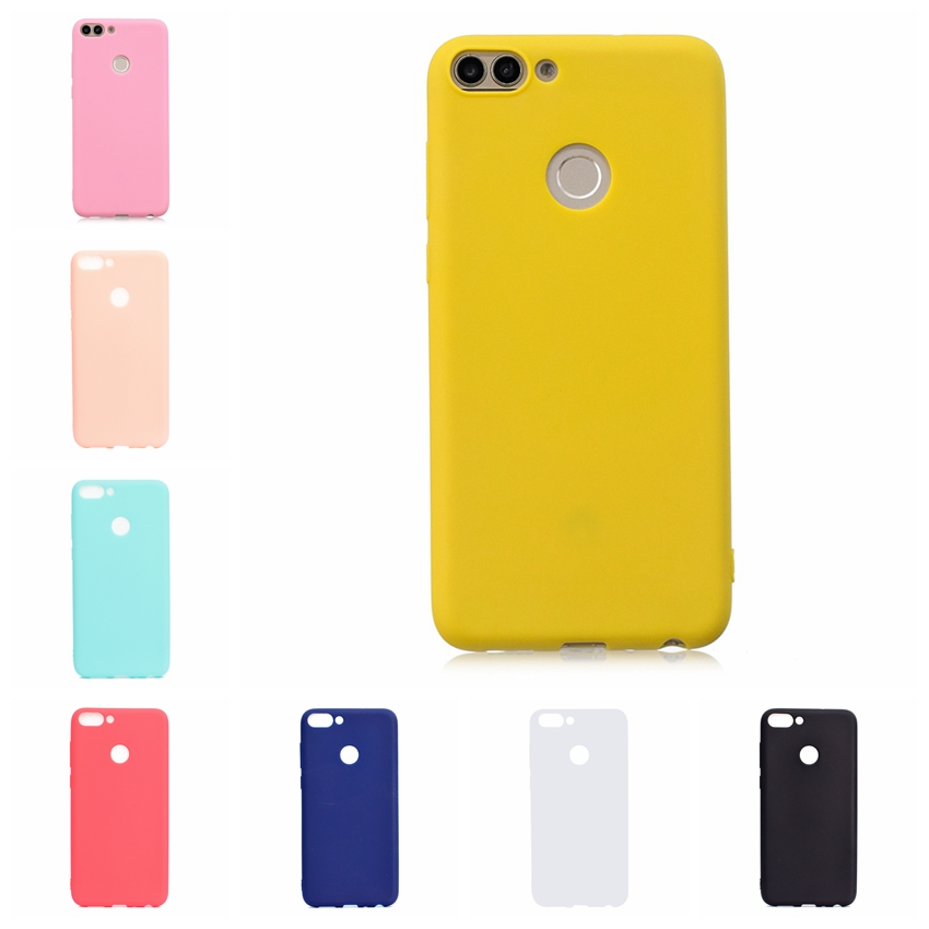 Candy Color Phone <font><b>Case</b></font> For Coque Hawei P Smart Enjoy <font><b>7S</b></font> <font><b>Honor</b></font> 7A 7C 8C 8X 9i 9 Lite Y6 2018 Soft <font><b>Silicon</b></font> TPU Back Cover Etui image