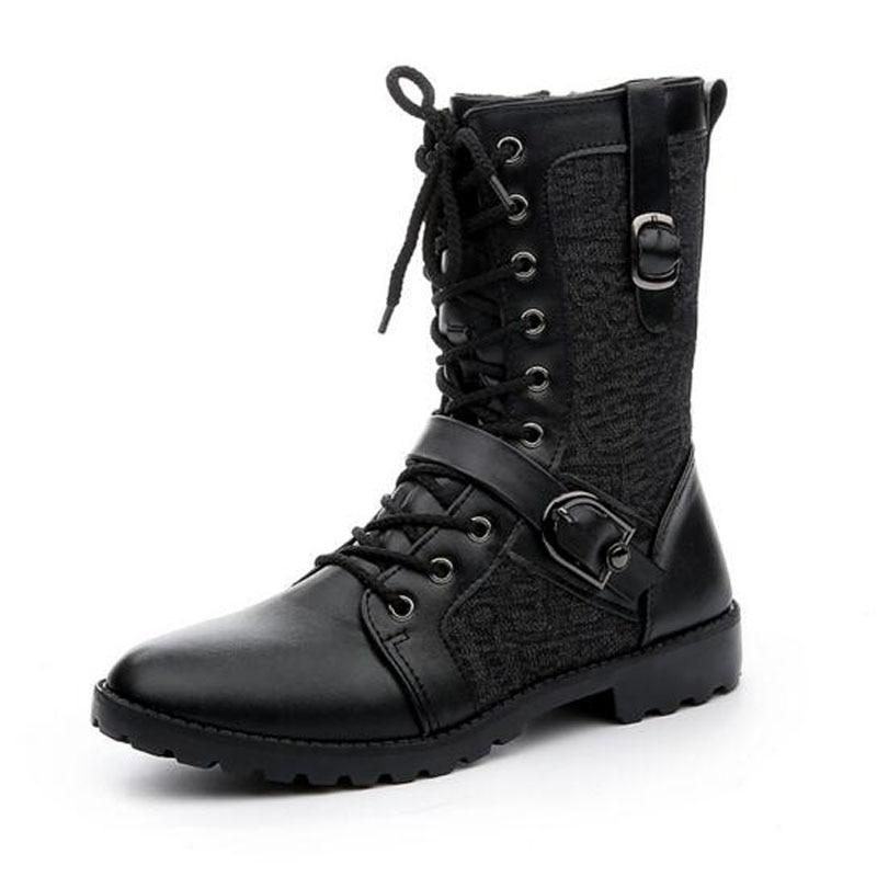 Popular Black Combat Boots Mens-Buy Cheap Black Combat Boots Mens ...