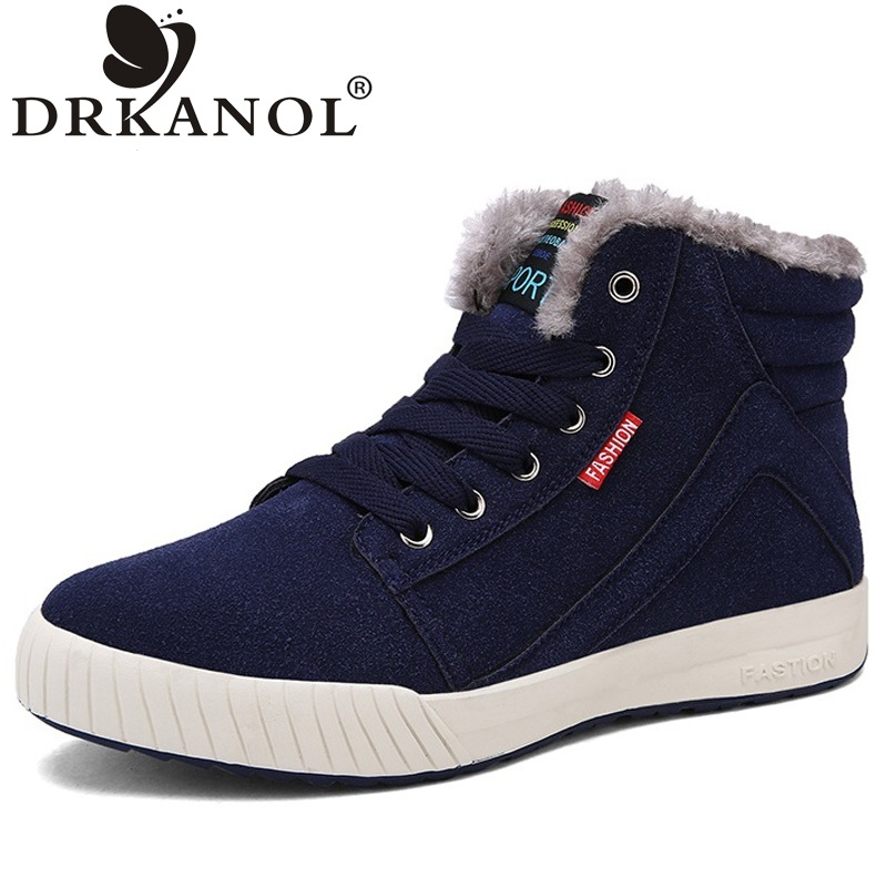 New arrival big size 39-45 men boots fashion flat winter snow boots thick plush ankle boots for men warm casual shoes botas new fashion warm fur leather men snow shoes flat heels plush ankle winter casual shoes platform outdoor men cotton shoes