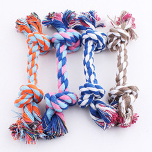 High Quality Pet Dog Puppy Cotton Chew Knot Toy Durable Braided Bone Rope Funny Toy Pet Dog Toy Supplies