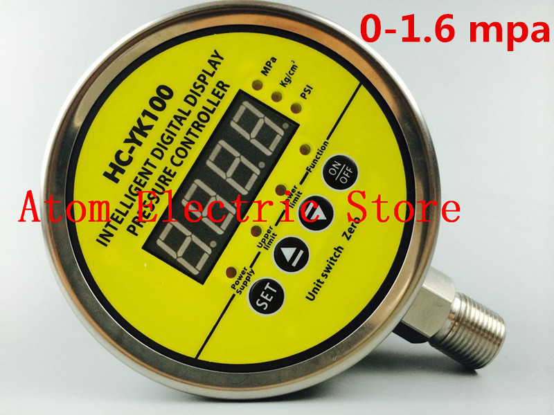 0-1.6 mpa  AC220V  Digital display electric contact pressure gauge digital controller 0 16 mpa ac220v digital display electric contact pressure gauge digital controller