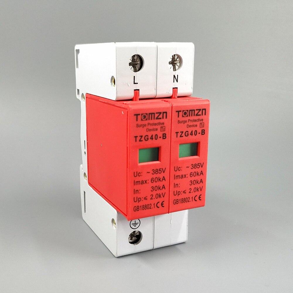 AC SPD 1P+N 30KA~60KA D ~385V  House Surge Protector Protective Low-voltage Arrester DeviceAC SPD 1P+N 30KA~60KA D ~385V  House Surge Protector Protective Low-voltage Arrester Device