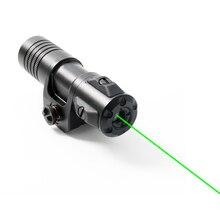 ドロップ無料laserspeed水中レーザー釣りレーザー防水レーザーポインター5mwのグリーンレーザーサイトライフルピカティニーウィーバーレールマウント