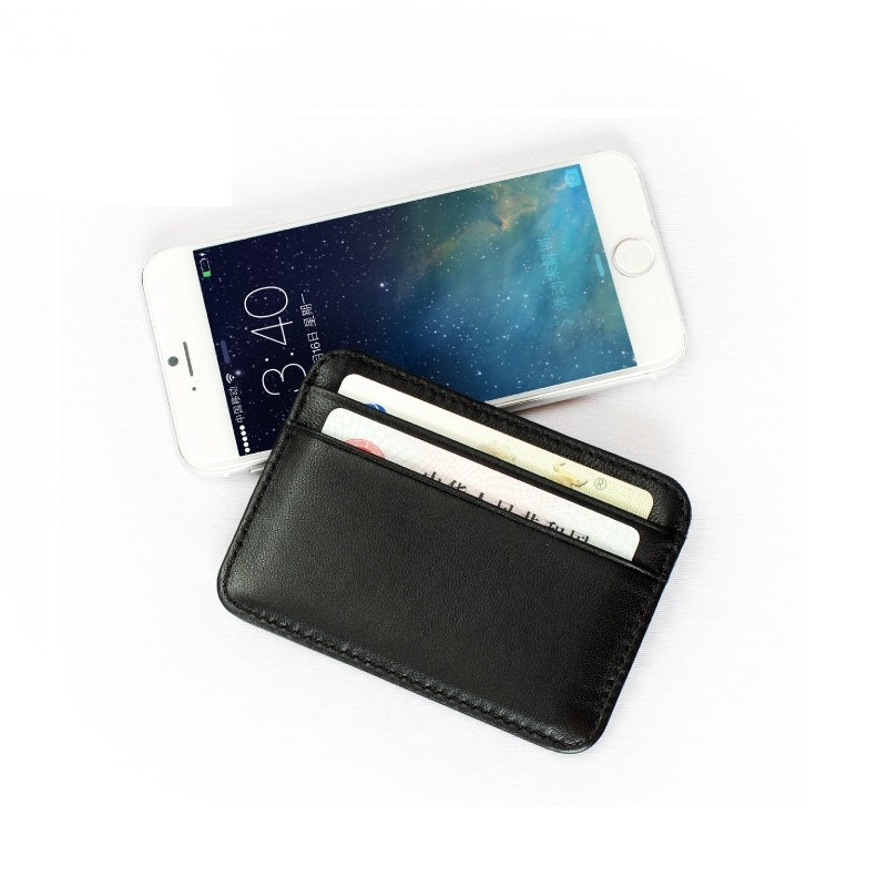 Meet Reach Slim Soft Minimalist Wallet Sheepskin Genuine Leather Mini Credit Card Purse Card Holder Men Pocket Wallet Thin Small ...